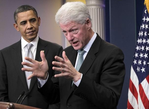 bill clinton & barack obama
