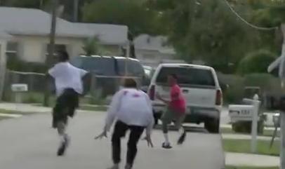 fake zombie attack