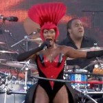 Grace Jones Makes Rare Appearance for the Queen (Video)