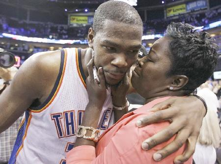 kevin durant & mother wanda