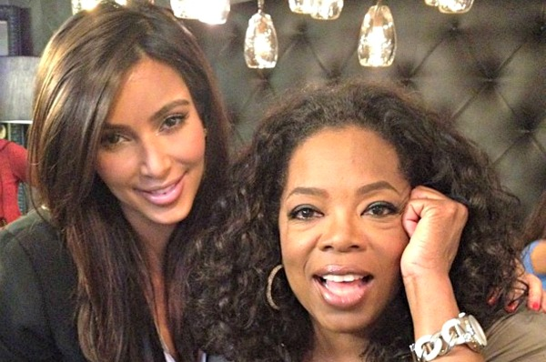 kim k and oprah