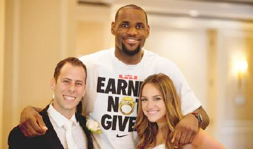 lebron james (wedding pic)