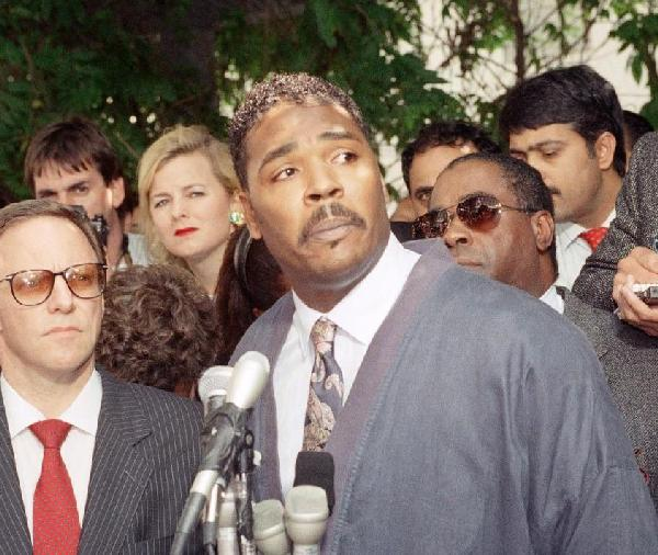 rodney king (classic newsconference shot)
