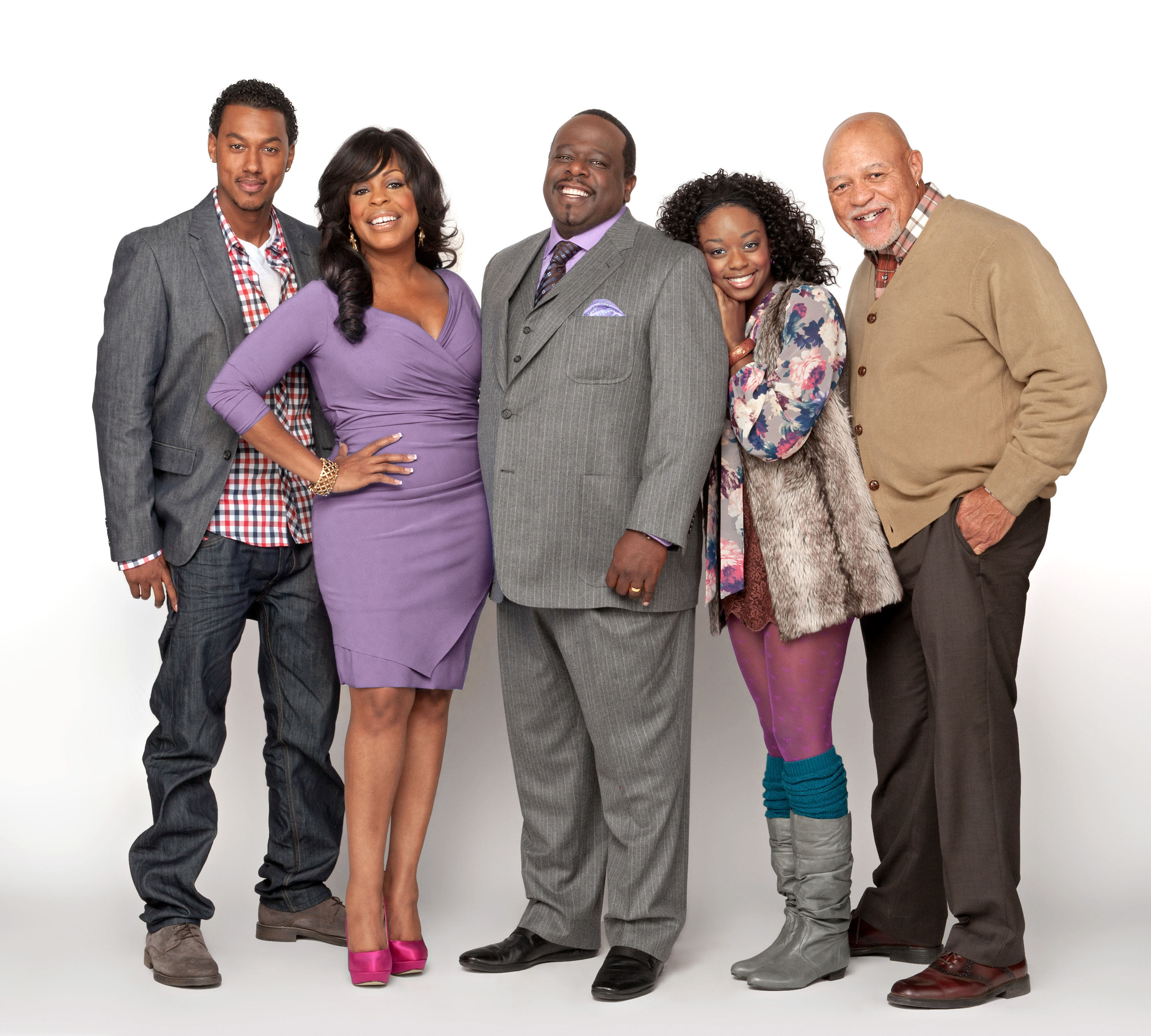 TV Land's 'The Soul Man' cast, (center) Niecy Nash and Cedric the Entertainment.