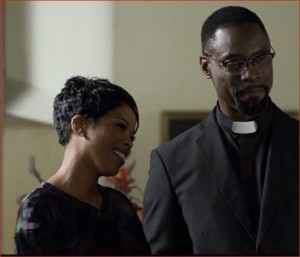 Malinda Williams and Isaiah Washington in Russ Parr's The Undershepherd.