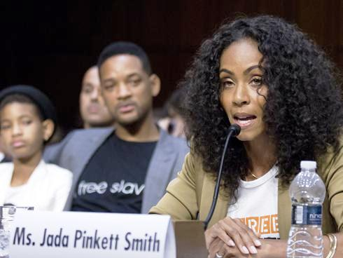 Actress Jada Pinkett Smith testifies before the Senate Foreign Relations Committee on human trafficking. (July 17, 2012)