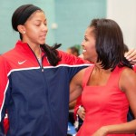 Michelle Obama Gives Pep Talk to Team USA (Photos)