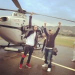 Ludacris, Chris Brown Go Helicopter Riding in Cannes (Photos)