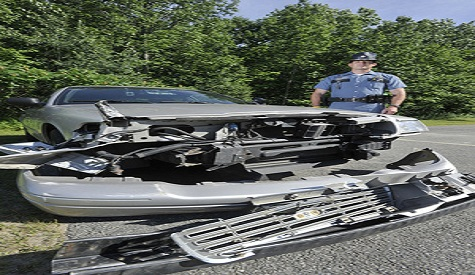 Maine State Trooper Douglas Cropper lets elderly driver crash into his cruiser to stop him from driving the wrong way up the interstate.