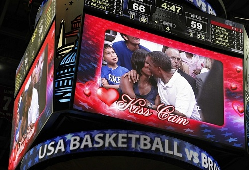 first couple kiss cam