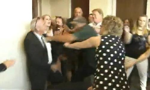 florida courtroom brawl