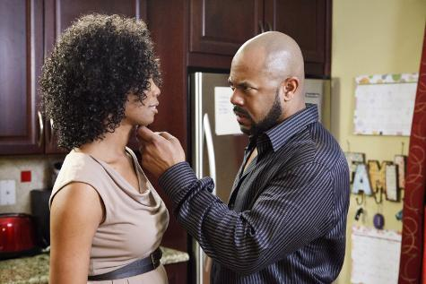 "Vanessa Williams and Rockmond Dunbar in a scene from GMC's ""Raising Izzie"""