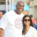 Magic Johnson and Wife Cookie Spotted Lovin' it Up in Italy