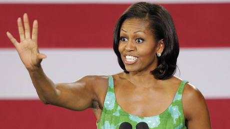 michelle obama (waving)