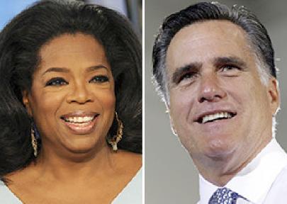 oprah winfrey & mitt romney