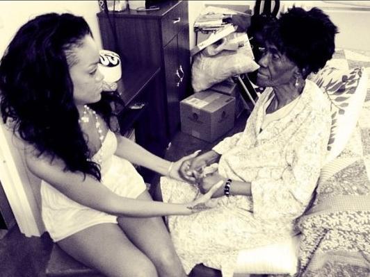 rihanna & grandmother