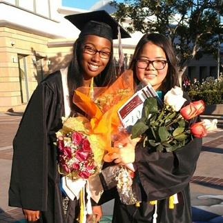 Amanda Washington and her classmate