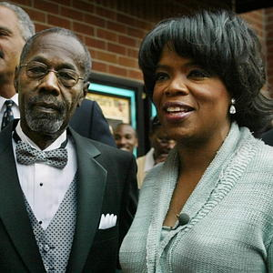 Oprah Winfrey Attends a Premiere with Father