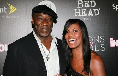 """Green Mile"" star, Michael Clarke Duncan with lady love, Omarosa Manigault Stallworth"