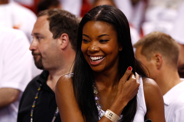 Actress Gabrielle Union attends Game Four of the 2012 NBA Finals between the Miami Heat and the Oklahoma City Thunder on June 19, 2012 at American Airlines Arena in Miami.