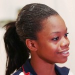 Gabby Douglas Gets a Kiss from her Celebrity Crush (Video)