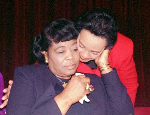 betty and coretta, portrayed on lifetime tv with mary j blige and angela bassett