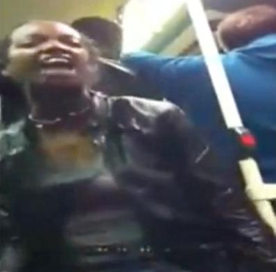 black woman bus rant
