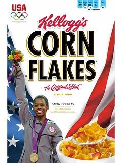 gabby douglas (cornflakes box cover)