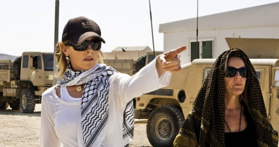"Director Kathryn Bigelow's on the set of her Bin Laden Thriller ""Zero Dark Thirty"""