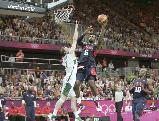 lebron james (vs.  lithuania in olympics)