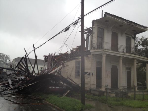 Melissa Harris Perry's damaged house in New Orleans
