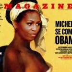 Michelle Obama Shown as Partially Nude Slave on Cover of Spanish Mag