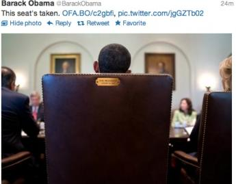 obama chair tweet