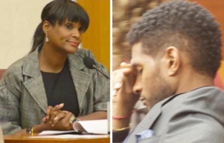 tameka & usher (in court)