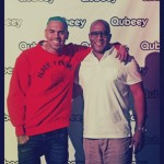 Chris Brown with Qubeey Vice Pres of Marketing,. Marc Brogdon.