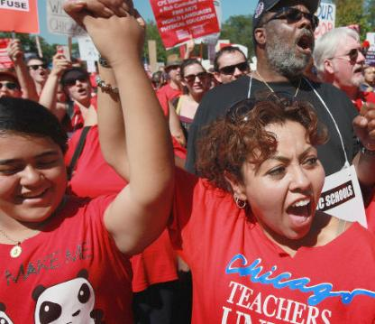 chicago teachers on strike