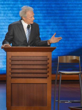 clint eastwood & empty chair