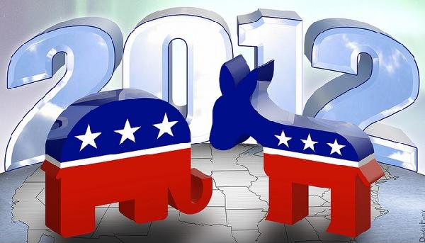 Republican & democratic party icons