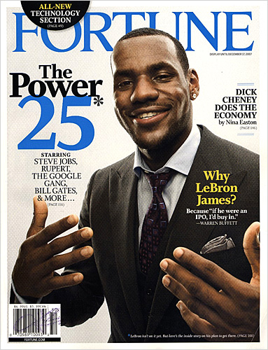 lebron james (fortune mag cover)