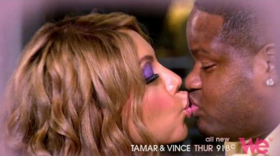 tamar & vince (kissing)