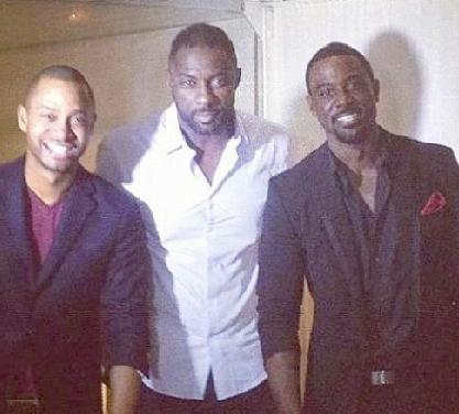 terrence j, idris elba and lance gross
