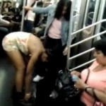 Woman Pees and Showers on NYC Subway (Video)
