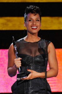 Singer Alicia Keys speaks onstage at BET's Black Girls Rock 2012 at Paradise Theater on October 13, 2012 in New York City