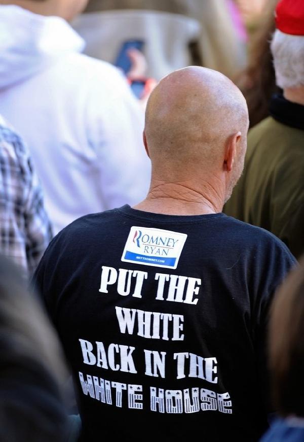 ROMNEY Supporter, rascist T-shirt2