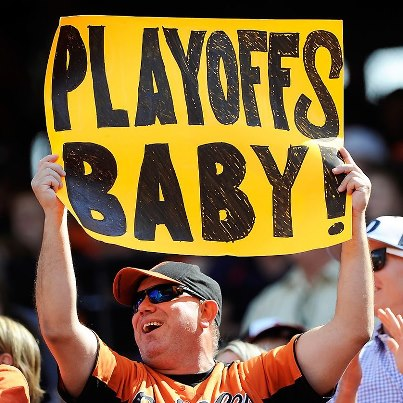 baseball playoffs sign
