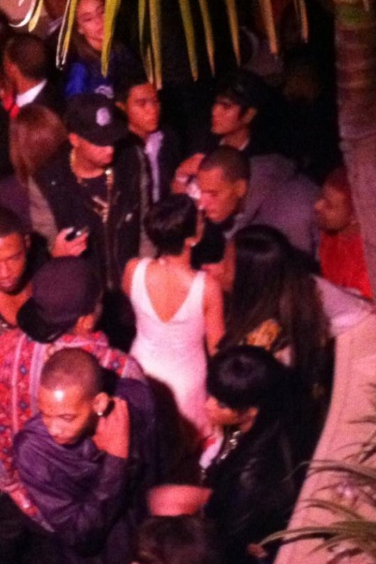 chris brown & rihanna (at qubeey party)