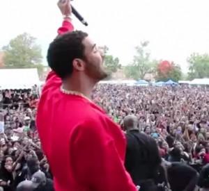 Drake performs at Howard University International YardFest in Washington DC, Oct. 19, 2012