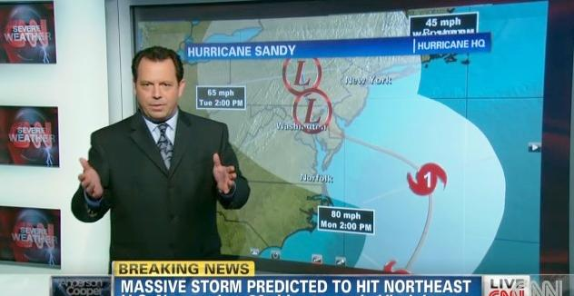 cnn weatherman (hurricane sandy)