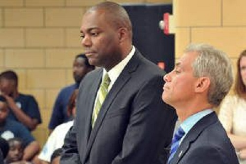 down as CEO of Chicago Public Schools, Thursday, October 11, 2012