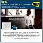 Kem Performs cuts from His New Christmas CD Today (10-16-12) at Best Buy in Southfield, MI